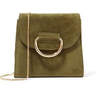 Little Liffner Tiny Box Suede Shoulder Bag