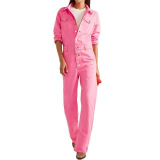 Ganni Pink Denim Jumpsuit