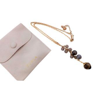 Furla Faceted Stone Drop Necklace