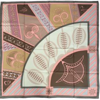 Hermes Geometrie Cretoise Silk Scarf