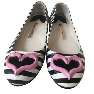 Sophia Webster Flamingo Heart Ballet Flats