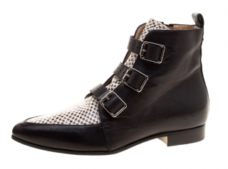Jimmy Choo Point-Toe Leather Ankle Boots