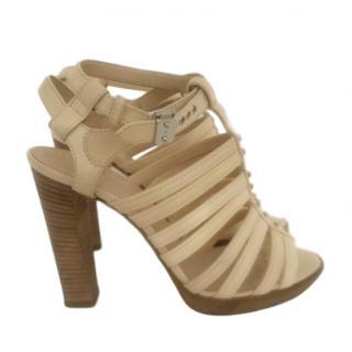 Hermes Beige Gladiator Sandals