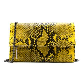 Henry Bendel Girls Night Out Embossed Snake Clutch Bag