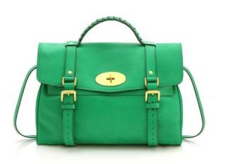 Mulberry Alexa Green Leather Bag