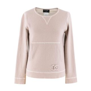Chanel Lightweight Beige Cashmere Knit Jumper