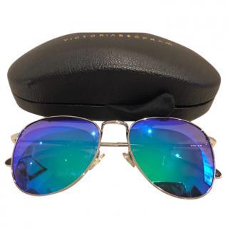 Victoria Beckham Mirrored Aviator Sunglasses
