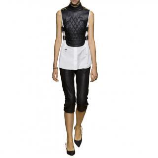 Dior Leather Zip Detailed Capri Pants