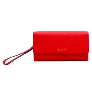 Henri Bendel Red Uptown Out & About Organizer Wallet