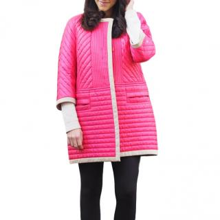 Peuterey Pink Quilted Shell Coat