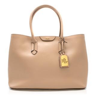 Lauren Ralph Lauren Nude Etched Leather Tote bag