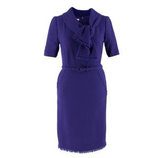 Oscar de La Renta Wool Raw Hem Dress