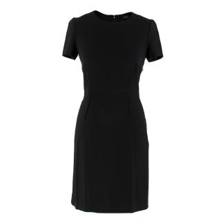 Joseph Black Short-Sleeve Mini Dress