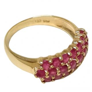 Bespoke Ruby-Encrusted Yellow-Gold Ring