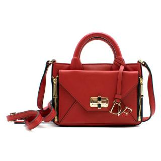 Diane von Furstenberg Red Mini Secret Agent Bag