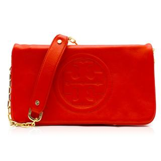 Tory Burch Red Leather Shoulder Bag