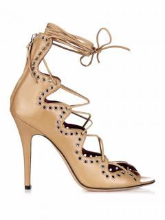 Isabel Marant 'Lelie' Lace-up Eyelet Embellished Heels