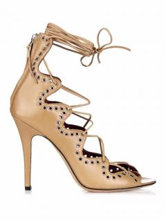 Isabel Marant 'Lelie' Lace-up Eyelet Embellished Heels