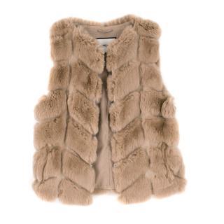 Max & Moi Rabbit Fur Vest