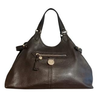 Mulberry Chocolate Brown Pebbled Leather Somerset Tote