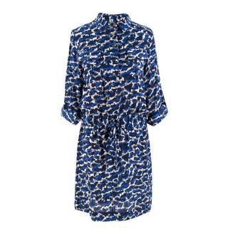 Max & Moi Camouflage Print Silk Short Dress