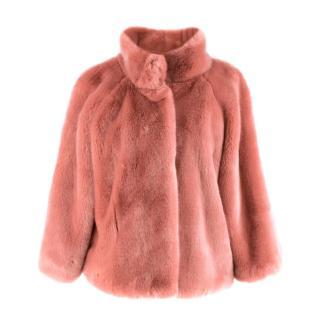 Bespoke Pink Faux Fur Short Jacket