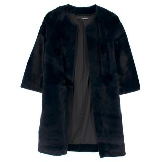 Amanda Wakeley Black Caro Sheared Fur Jacket