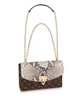 Louis Vuitton Saint Placide Monogram Canvas & Python Bag