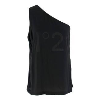 No.21 Black One-shoulder Donna Top
