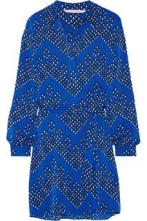Diane Von Furstenberg Seanna Blue Shirt Dress