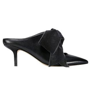 Tory Burch Black Leather Clara Mules