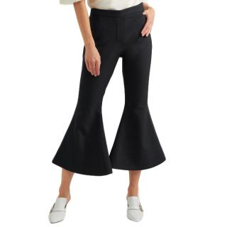 Ellery cantina crepe flared trousers