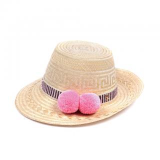 Yosuzi Malina pink pompom-embellished hat