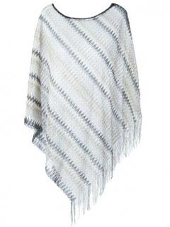 Missoni Zig Zag Asymmetric Knit Poncho