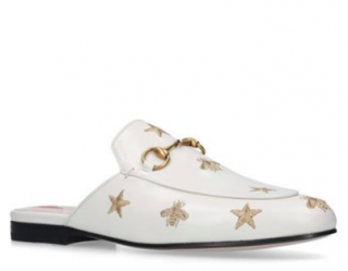 Gucci Princetown embroidered bee and star loafers