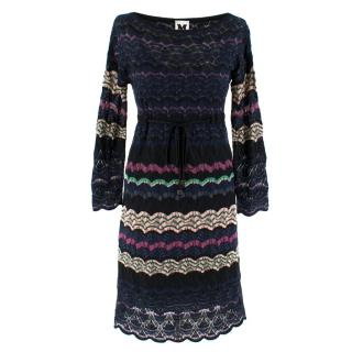 M Missoni Multi-Coloured Zig Zag Knit Dress