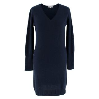 Ns Cashmere Navy Long Sleeve Cashmere Dress