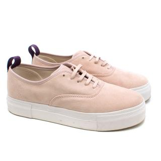 Eytys Powder Pink Mother Suede Trainers