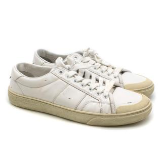 Saint Laurent White Court Classic Sneakers