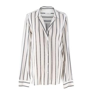 Equipment Femme White Striped Silk Shirt