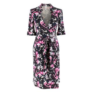 Diane von Furstenberg Jessica Printed Silk Wrap Dress