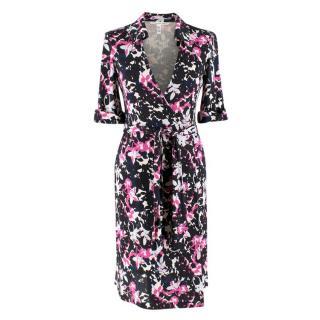 Diane von Furstenberg Jessica Printed Silk Wrap Dress