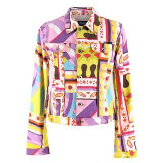 D&G Geometric Print Multi-Colour Denim Jacket