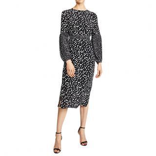 Rixo polka-dot print dress
