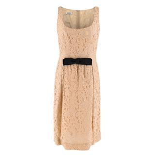 Moschino Cheap and Chic Lace Bow Waist Dress