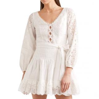 Zimmermann broderie anglaise linen mini dress