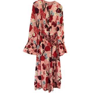 Mother of Pearl Mandarin Print Midi Dress