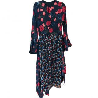 Mother Of Pearl Floral Print Midi Dress