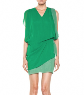 Acne Studios Green Mallory Dress