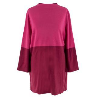 J&M Davidson Pink Colour Block Sweater Dress